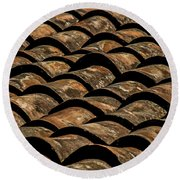 Tile Roof 4 Round Beach Towel