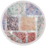 Tile Splash Round Beach Towel