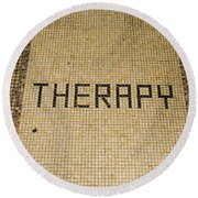Tile Therapy Round Beach Towel
