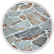 Tiles From Sandstone Quarried Stone Round Beach Towel