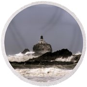 Tillamook Lighthouse Round Beach Towel