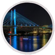 Tilikum Crossing Round Beach Towel