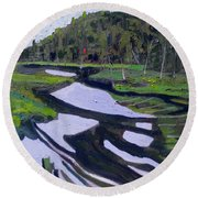 Tim River - Algonquin Round Beach Towel