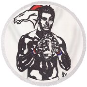 Tim Tebow 2 Round Beach Towel by Jeremiah Colley