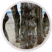 Timber Textures Lv Round Beach Towel