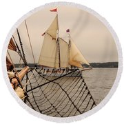 Timberwind Off The Bow Round Beach Towel
