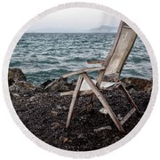 Time And Memory Round Beach Towel