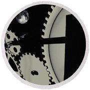 Time And Space Round Beach Towel