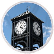 Time And Time Again Round Beach Towel