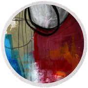 Time Between- Abstract Art Round Beach Towel