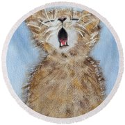Time For Bed Round Beach Towel