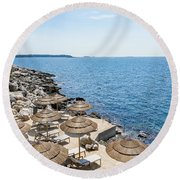 Time For Relaxation Round Beach Towel