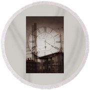 Time Is Infinite Round Beach Towel