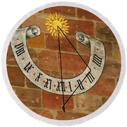 Time ... Round Beach Towel