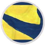 Time River Round Beach Towel