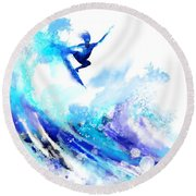 Time To Fly Round Beach Towel