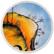 Time Travel Is Possible. Irrational Space Round Beach Towel