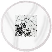 Time Waits For No One Round Beach Towel