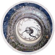 Time Warp Round Beach Towel