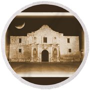 Timeless Alamo Round Beach Towel