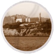 Timeless Alcatraz Round Beach Towel