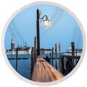 Timeless Venice Round Beach Towel