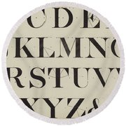 Times New Roman Round Beach Towel