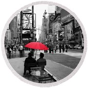 Times Square 5 Round Beach Towel