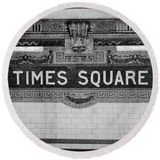 Times Square Station Tablet Round Beach Towel