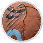Timid - Tile Round Beach Towel