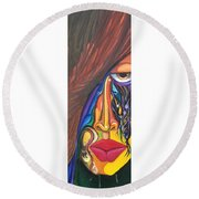 Hidden Scream - Scar Series 4 Round Beach Towel