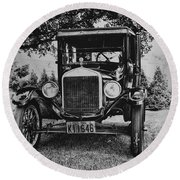 Tin Lizzy - Ford Model T Round Beach Towel