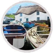 Tinker Taylor Cottage Sennen Cove Cornwall Round Beach Towel