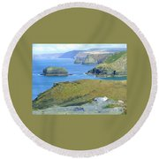 Tintagel Round Beach Towel
