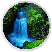 Tiny Falls Round Beach Towel