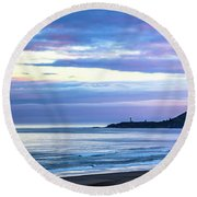Guiding Light In The Distance Round Beach Towel