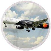 Titan Airways Boeing 757 Round Beach Towel