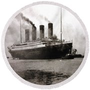 Titanic  Round Beach Towel