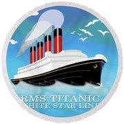 Titanic Round Beach Towel