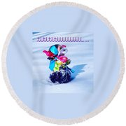 Tititiii Round Beach Towel