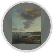 Title The Thames Below Woolwich Round Beach Towel