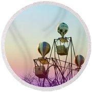 Tivoli Balloon Ride Round Beach Towel