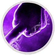 Tmnt 2   -  Donatello Smoky Purple. Round Beach Towel