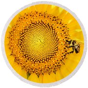 To Bee Or Not To Bee Round Beach Towel