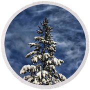 To Blue Horizons Round Beach Towel