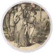 To Caper Nimbly In A Lady's Chamber To The Lascivious Pleasing Of A Lute Round Beach Towel