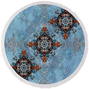 To The Crown Round Beach Towel
