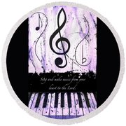 To The Lord - Purple Round Beach Towel