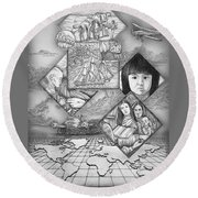 To The Missionfields Round Beach Towel