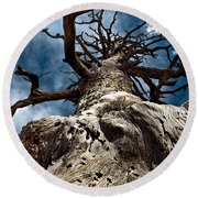 To The Sky Round Beach Towel